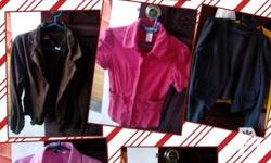 4 blazers and 4 polo for ladies, small to medium size,