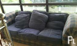 Bkue sofa for living room