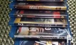 Lots of bluray movies. Slightly used, some are not ope