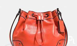 Grain leather Inside zip and multifunction pockets