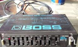boss graphic equalizer RGE-10 9V DC positive ground