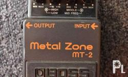 Boss Metal Zone MT2 Very Good working condition Check