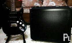 60W amp. + stratocaster electric guitar. Prices are
