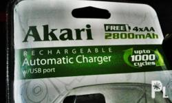 Brand new & Original Akari rechargeable batteries (Size