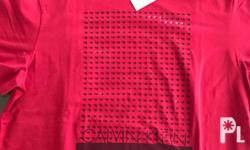 Brand new Authentic On hand CK men�s shirt (red) -