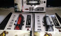 Water proof Blinker LED Bike Light W/USB Cord