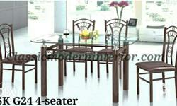 SK G24 and SK G26 Dining Set. Metal frame brown
