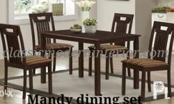 Mandy Dining Set 4-seater �9200.00 Solid wood, wenge
