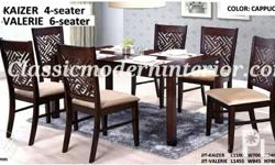 Valerie Dining set 6-seater. Brand new, Made in