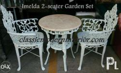 Imelda Garden Set 2-seater. Marble top table. Ideal for