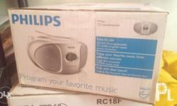 Brand new Philips Portable CD player with radio. Small