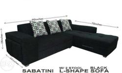 Brand new Sabatini L-shape sala set with 2 stools.