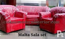 Malta Sala Set. Suede fabric. Colors: Red maroon,