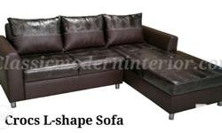 Crocs Lshape Sofa. Available in Black and Brown
