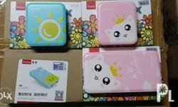 Yoobao 10400mah (Pink with cat, blue with Sun) =1300