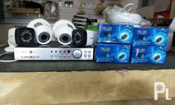 CCTV SET FOR SALE Php 9,500 dvr 4 channel 2 dome camera