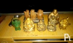 Selling my mom's preloved old buddha displays. Okey pa