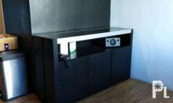 Great set for modern condo or townhouse. Media console:
