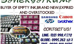 We are Buying Empty or NEW Cartridges and TONER such as