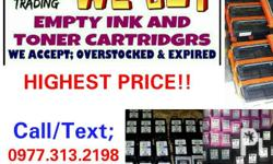 We are Buying Empty Ink and Toner Cartridges! We are