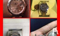 We are buying high-end vintage or modern watches by