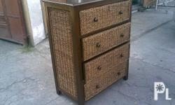 Deskripsiyon 4layer cabinet made of Wood with Abaca Plz