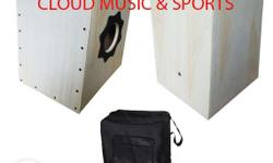 cajon beat box with pick up white with carrying bag