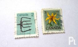 2 pieces of Canadian stamps. More stamps available.