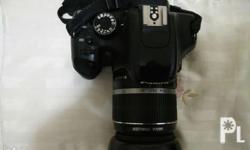 Canon 550d with original lens EF-S 18-55mm Made in