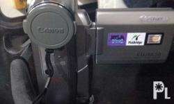 Canon Elura 50 10 x Optical and 400 x digital zoom,