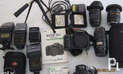 Canon Camera EOS 10 D, with 3 lens all by TAMRON SP