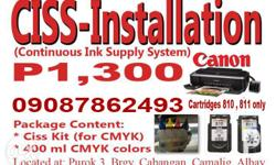 CISS installation for Canon (For cartridges 810/811