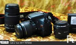 Slightly used Canon EOS 600D DSLR Camera with 3 lense