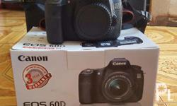 Selling my CANON EOS 60D with kit lens plus 55-250mm