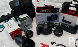 Inclusions: Canon Eos 60 D - second hand but good as