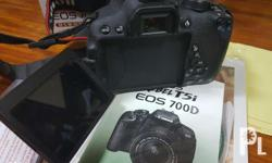 Canon EOS 700D DSLR Complete package with charger, box,