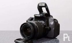 For sale Canon EOS DSLR 650D Touch screen with full HD