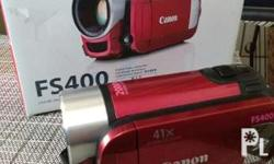 Canon FS400 camcorder As good as new With box and