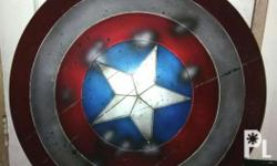 "Captain america shield recast ""battle damaged"" meetups"