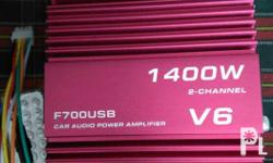 V6 car amplifier. Rca line input and output. 2channel