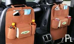 200 each car backseat storage. color brown