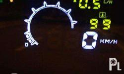 Head-up display with ALL HUD functionalities (Rev/min,