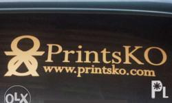 """""""You can have your own logo, design or photo printed on"""
