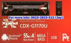 CAR STEREOS: (CD, MP3, AUX, USB) 1.) Pioneer - p4,850