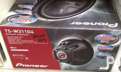 Car Subwoofers Pioneer ts-w311d4 12inch php4000 Pioneer
