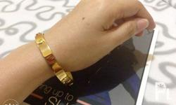 CARTIER BANGLES High quality Gold Stainless steel Non