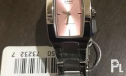 Brand new casio ladies� watch. Silver