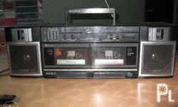 sonny brand cassette corder,accessible to AM & FM radio