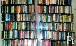 900 plus cassette tapes to choose from. You may text