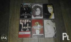 200 each. Negotiable. Christina Aguilera Janet Jackson